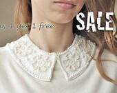 Ivory detachable collar necklace, bridal,peterpan necklace,trendy necklace,fashion necklace