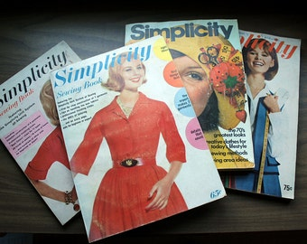 Simplicity Sewing Book: Lot of 4 50s 60s 70s Vintage Instructional Booklets Fashion Ephemera