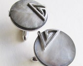 1950's Atomic Mother of Pearl SWANK cufflinks