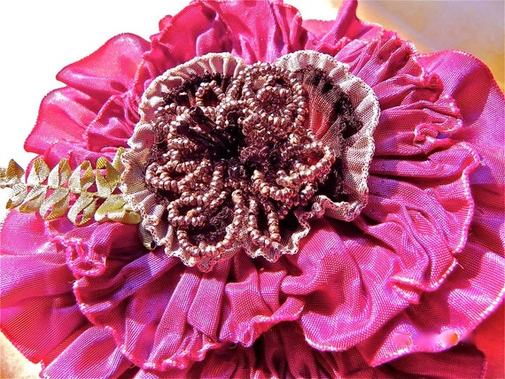 Antique Fuchsia Victorian Broach