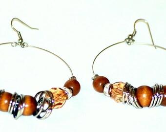 Vintage Bohemian hoop earrings
