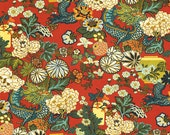 Schumacher Fabric Yardage - Chiang Mai Dragon Linen in Lacquer 1.5 yards