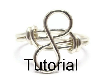Infinity Ring Tutorial For Beginner Wrappers - Wire Wrapped Jewelry Tutorials for Beginners - How to Make Rings - DIY Rings