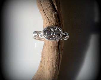 Guardian Angel wire wrapped ring - Saint Michael wire wrapped ring