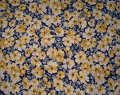 Fabric Black with Green and Yellow Floral Cotton- Whole Piece 3 Yards