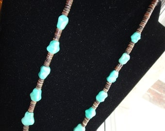 SALE Turquois Nugget Necklace