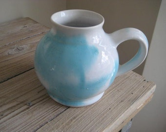 Edgecomb Potters Blue and White Mug with Handle