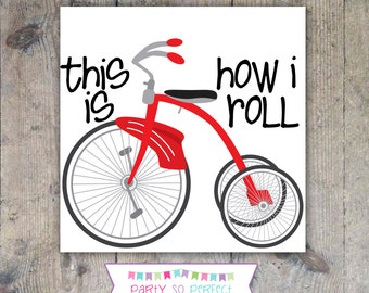 T-SHIRT IRON-ON Decal Transfer - Tricycle Printable