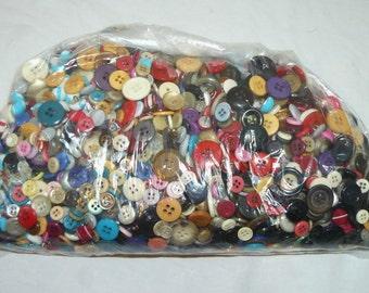 Vintage Button Mix Lot 2.2 Pound Lot - Craft - Sewing - Art