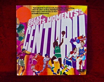 Great SPORTS MOMENTS of the CENTURY...Narrated by Curt Gowdy- Vintage Vinyl 2 lp Gatefold Record Album