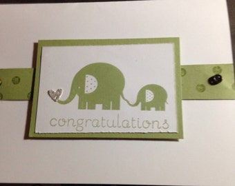 Baby shower or new baby card  made to order