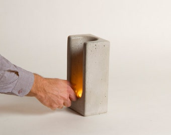 Tealight Totem in Concrete by Plywood Office