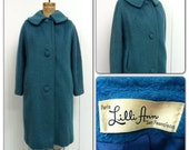 1950s Lilli Ann Coat 50s Teal Turquoise