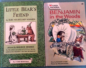 Two Vintage Children's books 1960's Little Bears Friend and Benjamin in the Woods
