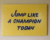 "CUSTOM Play Like a Champion Today Sign 18""x23"" *Officially Licensed Product*"