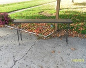 industrial and steel recycled barn wood console sofa table side table entry way table Free Ship Life Tme Warranty hairpin legs