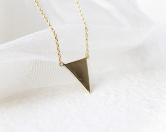 Gold inverted Triangle Arrow Necklace - S2337-2