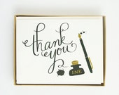 Ink and Blots Thank You Card 10pcs