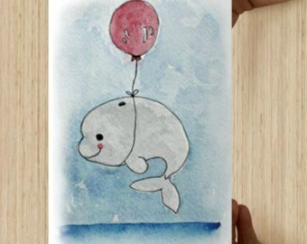 Baby Beluga Whale - Print Set of 6 cards