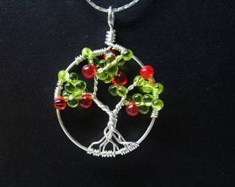 Apple Tree of Life Wire Wrapped Necklace Pendent