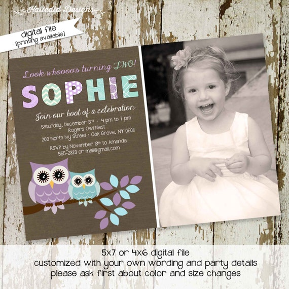 owl baby shower invitation owl first birthday birth announcement photo sip and see sprinkle ultrasound (item 257) shabby chic invitation