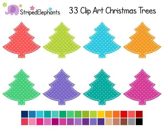 Items Similar To Christmas Tree Clip Art Polka Dots