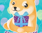Wow, Such Birthday Doge Greetings Card