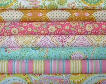 Fat Quarter Bundle of 7 from the Little Azalea Collection by Dena Designs for Free Spirit