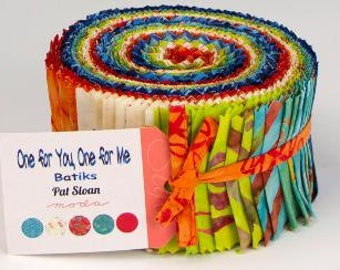One For Me One For You Jelly Roll by Pat Sloan for Moda