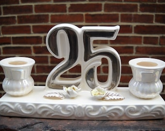 Great 25 birthday decoration or silver anniversary