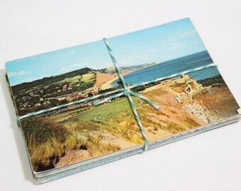 SALE 25 Vintage Used England Chrome Postcards