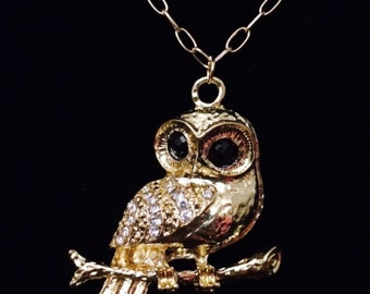 Wise old owl necklace