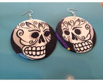 Sugar skull Day of the dead earrings (dia de los muertos)