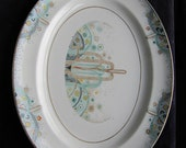 SALE 1925 World's Fair China Platter for Les Fountainespattern by Johnson Brothers