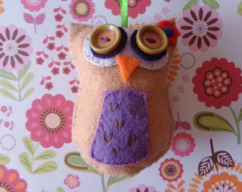 Wild Eyed Owl Ornament by Pepperland