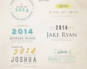 INSTANT DOWNLOAD - Senior Word Overlays vol.3