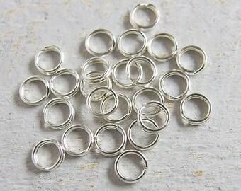 30 of 925 Sterling Silver Split Rings 5 mm. :th2082