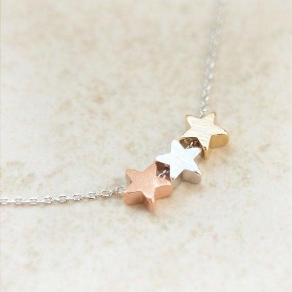 Tri-Color stars necklace