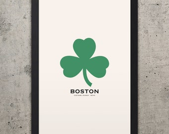 "BOSTON Minimalist City Poster - 12"" x 18"""