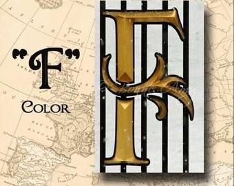Letter F Alphabet Photography Color 4 x 6 Photo Letter Unframed
