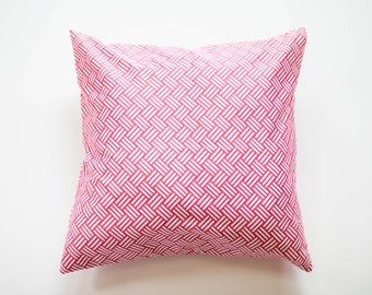 "Parquet Coral Pillow Decorative Cover with Invisible Zipper - 20""x20"""