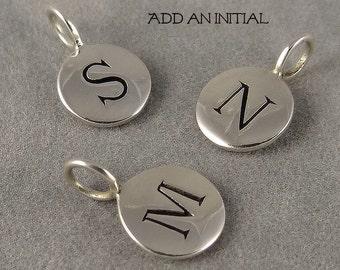 Add a Silver Initial Charm
