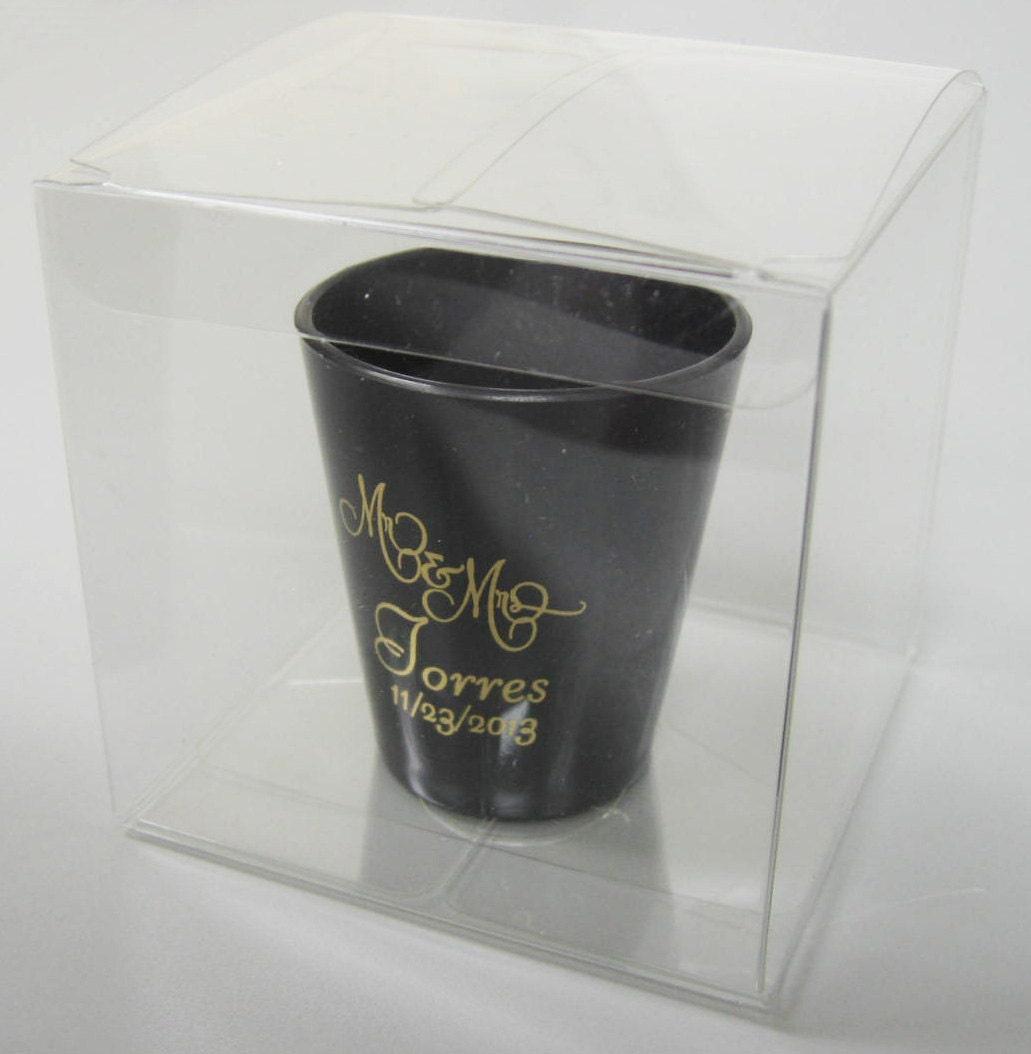 Wedding Gifts Glasses Personalized : Wedding Favors Personalized Plastic Shot Glasses New Romantic Custom ...