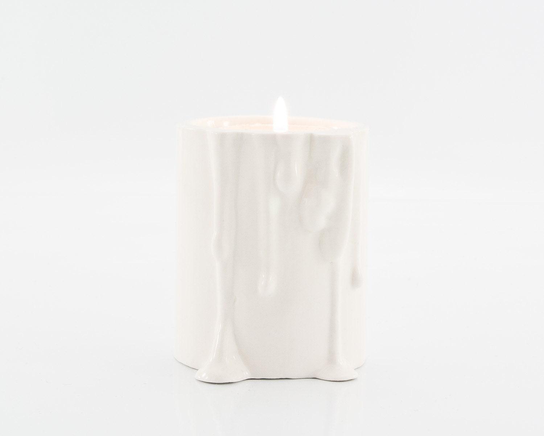 Modern candle holder porcelain tabletop
