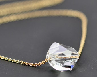 Cosmic Swarovski Crystal Faux Diamond Necklace, Jewelry, 14K Gold fill, Kristin Noel Designs