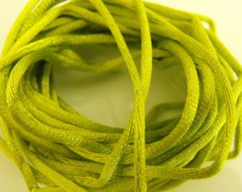 Lime Green Rattail Cording Ribbon