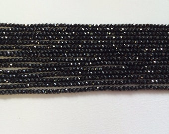 Black Spinel Faceted Rondelles-3mm