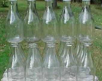Group of Twenty c1940s Plain Unmarked Quart Size Milk Bottles , Perfect for Wedding Decor
