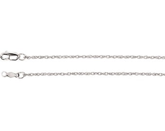 14kt white gold  rope chain 1.25mm 18 inches