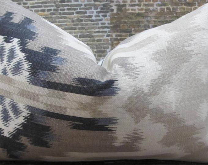 F. Schumacher Kiribati Linen -  12 x 16, 12 x 18, 10 x 20, 14 x 20  Designer Pillow Cover